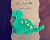 Green Dinosaur - Felt Pacifier Clip - Modern Baby Accessories