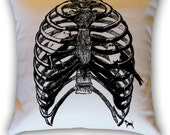 Rib Cage Bird Cage 14 x 14 Throw Pillow (CASE ONLY)