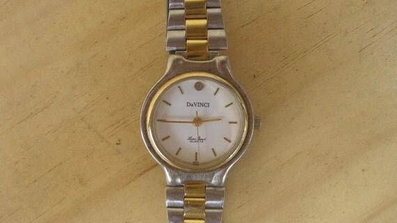 DaVinci Quartz Gold and Silver Tone Watch vinyage ON SALE