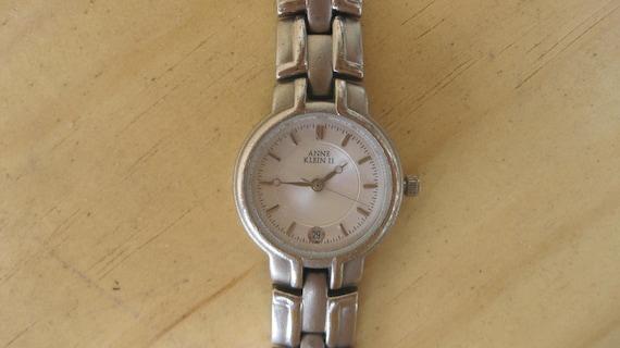 Anne Klein  2 Quartz Watch Silver Tone vintage ON SALE