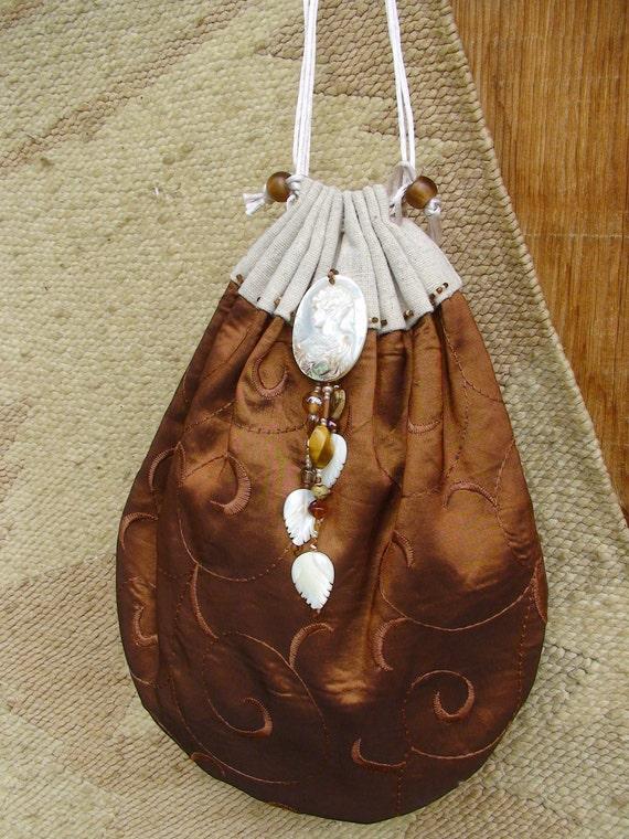 Lady of Avalon large size double drawstring bag
