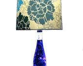 Lighted Wine Bottle Lamp LED 4 Option Blue Bottle Theme 3 Way