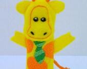 Mr. Giraffe Finger Puppet