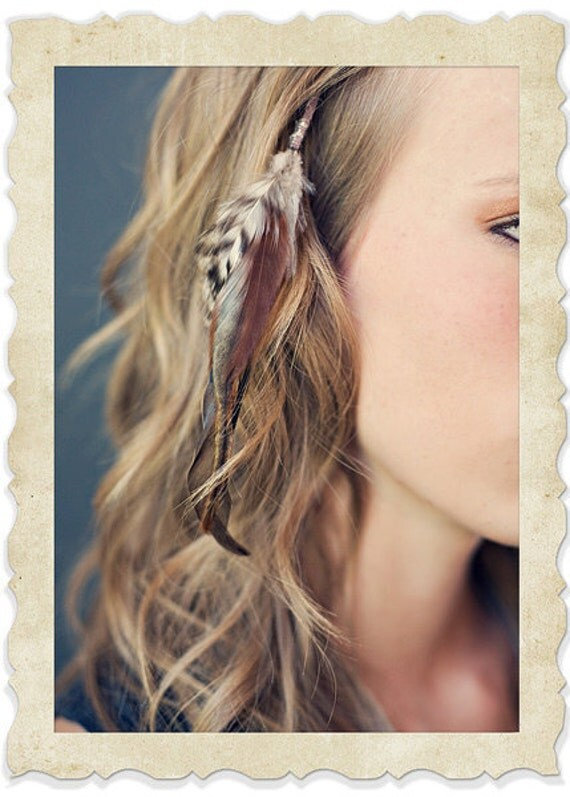 Feather Hair Extension Clip On