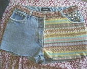 """Tribal Native American vintage high waisted shorts 32"""""""