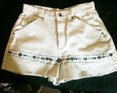 On(SALE) Off To the Beach Tribal Tan ULTRA limited Edition High Waisted Shorts