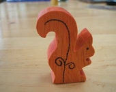 waldorf inspired wooden squirrel for nature table