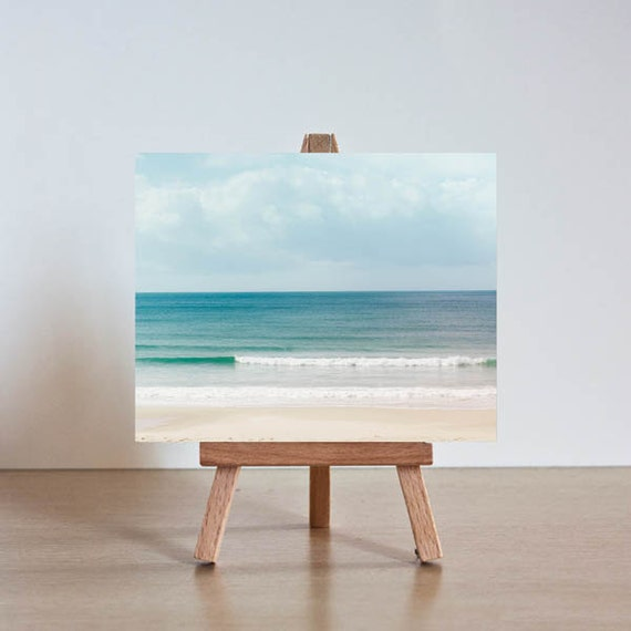 Nautical decor - mini print with stand - fine art photography ocean - vintage inspired  abstract beach photograph