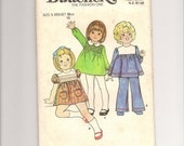 UNCUT VINTAGE 1970s Baby Girl Dress and Pants Pattern, Size 1/2 (6 Months), Butterick 427, Chest 48cm/19""