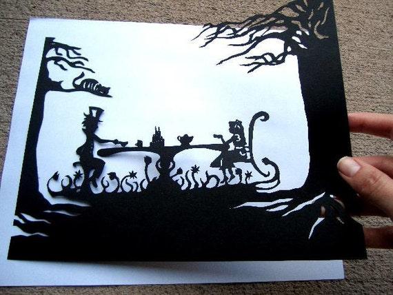 Papercut Silhouette Alice In Wonderland Paper By