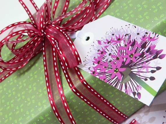 allium gift wrap set by Jane Crick