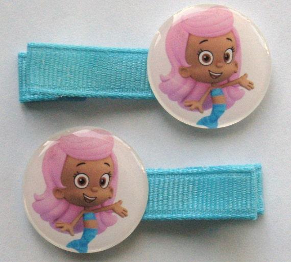 2 Boutique Girl Hair Clips Bubble Guppies Molly