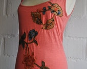 Batik Flower Top (Size-S), (France - 38-40), (Great Britain- 10-12), (EU-36-38)