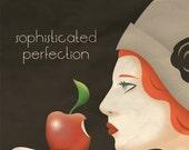 Art Deco Apple Poster