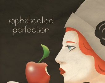 Art Deco Apple Poster