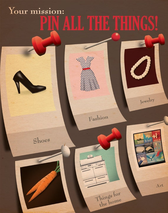 Pin All the Things Propaganda Poster