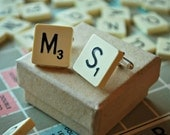 Scrabble Cufflinks. Great Gift for Men with 1950s vintage tiles.