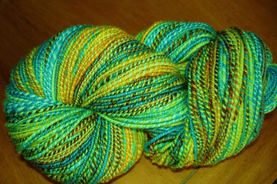 Hand Spun Fine Merino Wool Yarn, sock weight, 220 yards