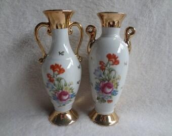 Vintage Floral Vases Made in Japan