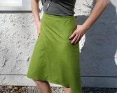 Wrap Skirt in Raw Silk