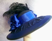 Wide Brim Titanic Hat - SPECIAL ORDER for YOU - Victorian Tea Party Hat, Edwardian Hat