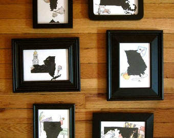 Customized State/Town/Country Prints