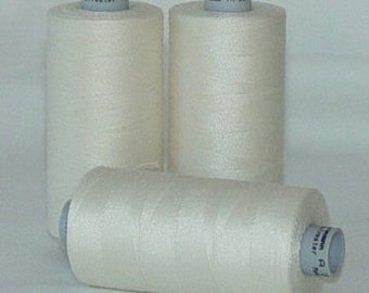 GUTERMANN Mara 100 Polyester Thread ONE (1) Spool 1,094yd 001 EGGSHELL