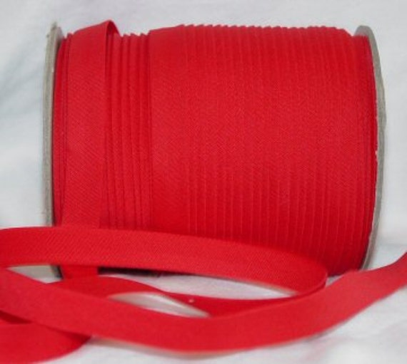 "RED 1/2"" Extra Wide Double Fold Bias Tape Fabric Trim 10yds"