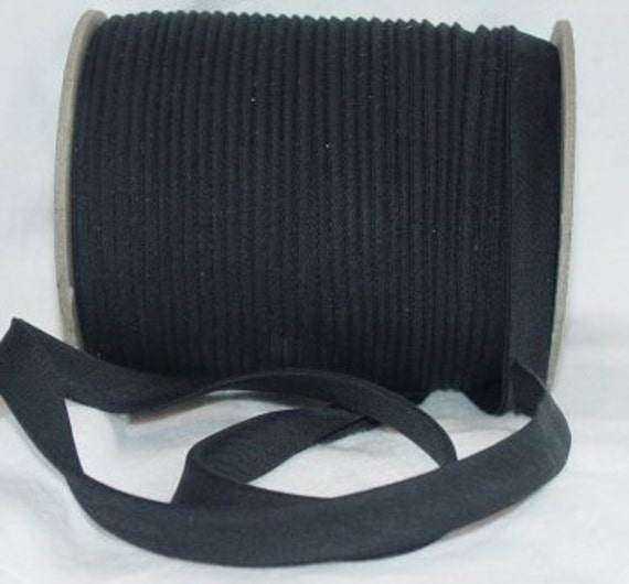 "10yd  Black 1/2"" Double Fold Bias Tape Superior Quality Fabric Trim Poly/Cotton"