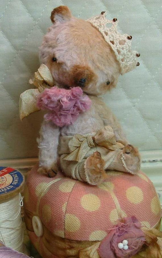 Astor B. Bear - mohair & silk artist bear handsewn by Sweet Souls Bears
