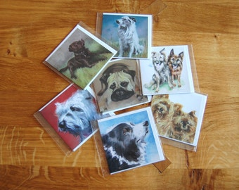 Dog Greetings Card Collection - 4 x 4 (10 x 10 cm) - Man's Best Friends