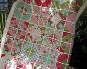 Bright and Beautiful Bliss quilt.  Toddler or lap size quilt 56 inches x 67 inches