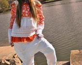 summery white linen Harem pants