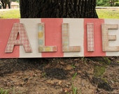 allie hand painted distressed wood name sign (custom - made to order)