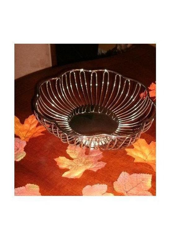 Silver Plate by GODINGER SILVER Co. Wire Rim Bread BASKET