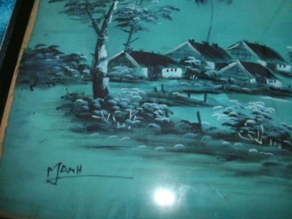 Japanese Silk Painting.  OLD.  Signed