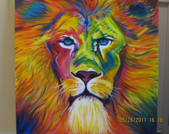 Original Lion Painting