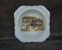 Vintage Dover Soup Bowl with Darling Cottage Scene - Antique Kitchen + Table Decor, Wall Art, Cottage China Bowl, Perfect Soup Bowl ON SALE