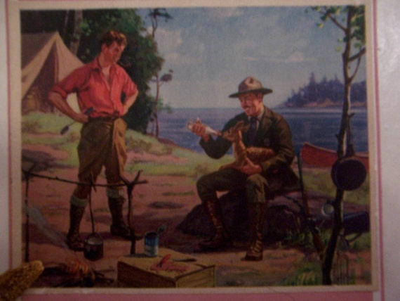 """1930's antique picture puzzle by Tuco-called a """"deluxe"""" titled """"Saving the Orphan"""" complete-no pieces gone"""