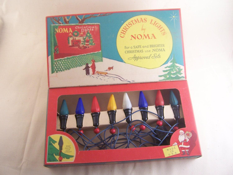 1936 Antique Christmas Lights By Noma Vintage Bright Gem