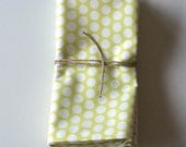 Cotton Napkin Set, Hand Printed in Citrus Bitty Dot