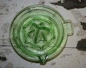 LOOK Grab your Organic Oranges HIP Vintage Green Glass Juicer