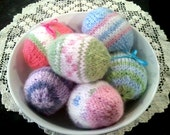EASTER EGG Knitting Pattern PDF Fun Easy to Knit Life-size Eggs