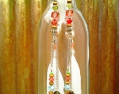 Summer Spritzer Long Feather Earrings