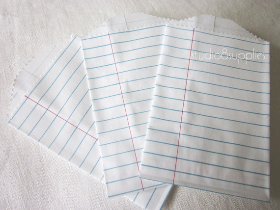 Bitty Bags Notebook Paper