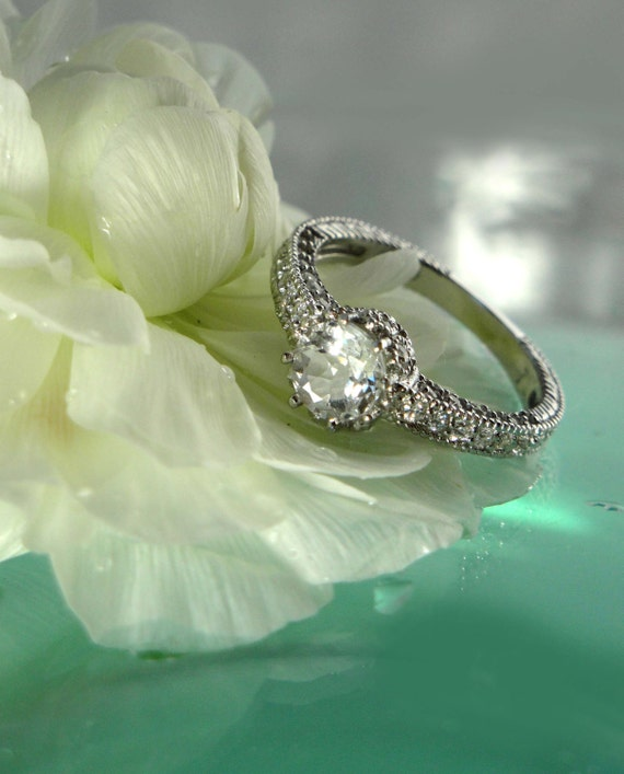Reserved final payment for Shauna Herkimer Diamond Antique Style Ring