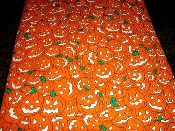 Vintage Halloween Fabric Table Cloth
