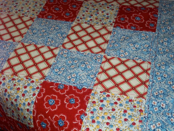 Cute Patchwork and Teacup Fabric Mat