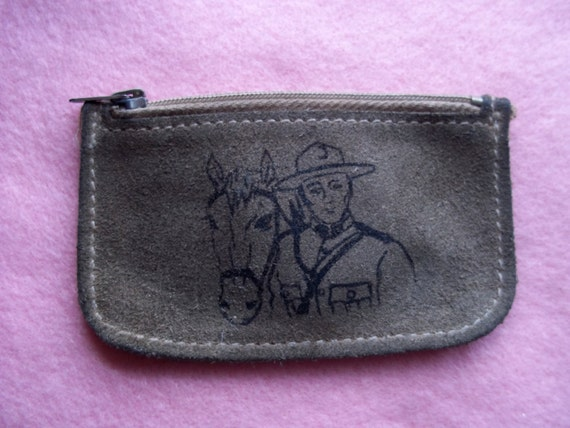 Vintage Mountie Leather Coin Purse