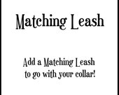 6' Matching Leash for Small & Medium Collars